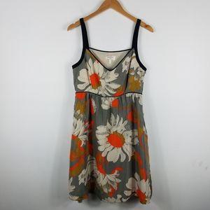 Moulinette Soeurs Silk Floral A Line V Neck Dress